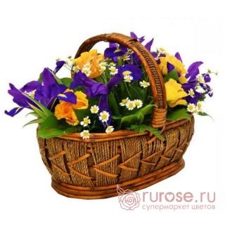 "Корзина с цветами ""Прованс"""
