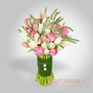 """Букет из 31 тюльпана """"Солфеджо"""""""