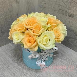 Цветы в коробке «Нежный»