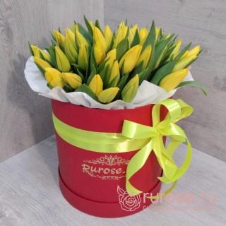 """Тюльпаны в коробке """"Масленица"""""""