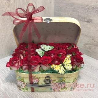 """Букет в чемодане """"Сладкая любовь"""""""