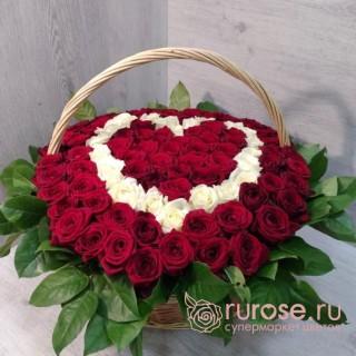 """Корзина роз """"Мои мысли о тебе"""""""