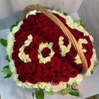"""Корзина с розами """"Дела сердечные"""""""