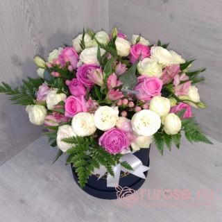 """Цветы в коробке """"Время праздника"""""""
