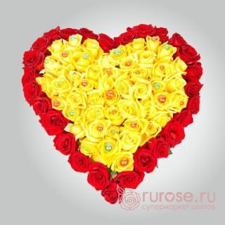 """Букет в форме сердца """"Красота любви"""""""