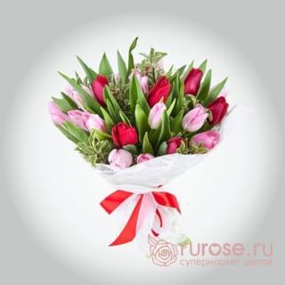 """Букет из 25 тюльпанов """"Чехия"""""""