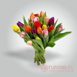 Букет из 21 тюльпана «Скромность»