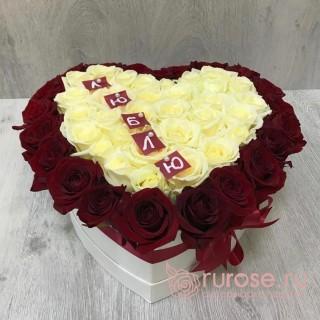 Цветы в коробке «Летний»