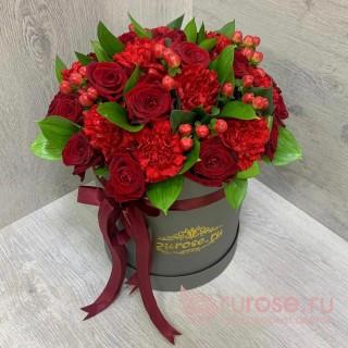 Цветы в коробке Романтический вечер
