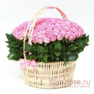 """Корзина с розами """"Ангел"""""""