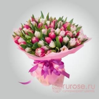 """Букет из 51 тюльпана """"Любовная история"""""""