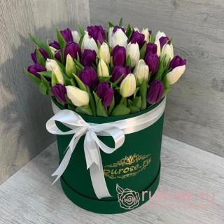 """Тюльпаны в коробке """"Весеннее настроение"""""""