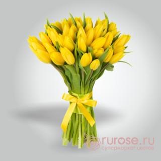 """Букет из 45 тюльпанов """"Оревуар"""""""