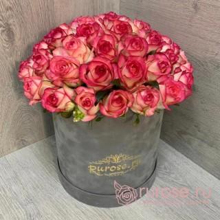 Цветы в коробке «Поцелуй на закате»