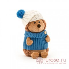 Ежик Колюнчик в шапке с голубым помпоном Art Os605/20B