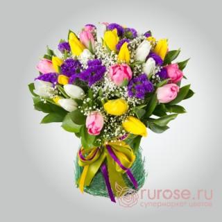 Букет из 27 тюльпанов «Иришка»