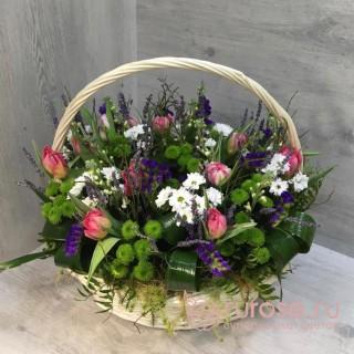 """Корзина цветов """"Пушистый"""""""