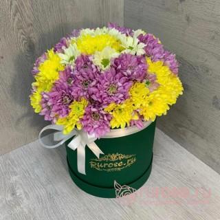 """Цветы в коробке """"Привет от друга"""""""