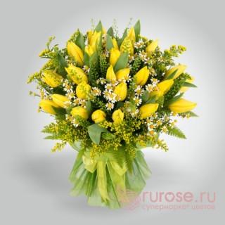 """Букет из тюльпанов """"Золотой прииск"""""""