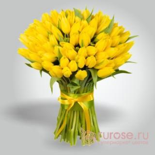 "Букет из 55 тюльпанов ""Желтое море"""