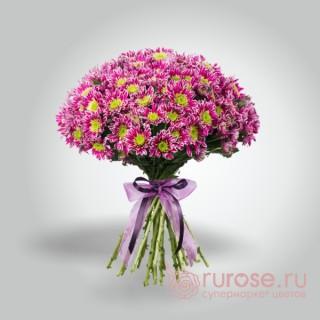 """Букет хризантем """"Розовый пушистик"""" (малый)"""