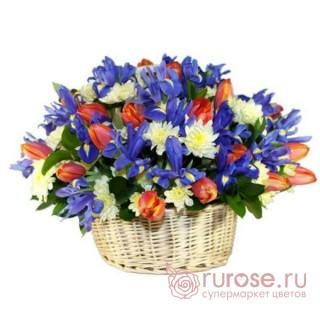 "Корзина с розами ""Жанна"""
