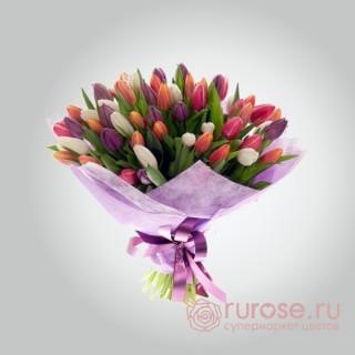 Букет из 51 тюльпана «Март»