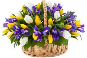 Варианты цветочных корзин