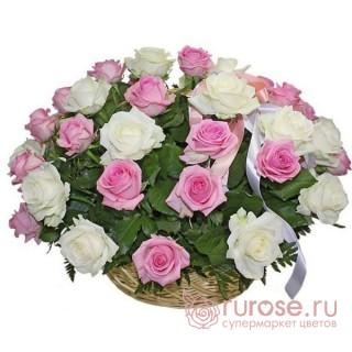 """Корзина с розами """"Пробуждение"""""""