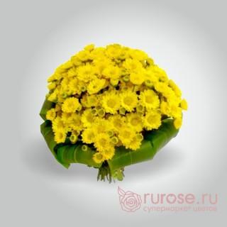 "Букет хризантем ""Янтарное бунтарство"""