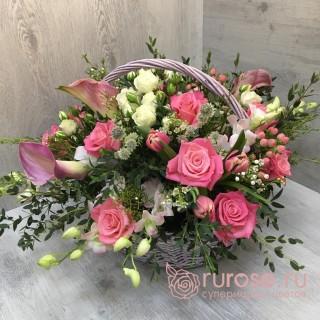 """Корзина цветов """"Искры любви"""""""