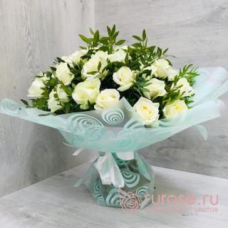 Воздушный зефир | Купить букет из 35 белых роз