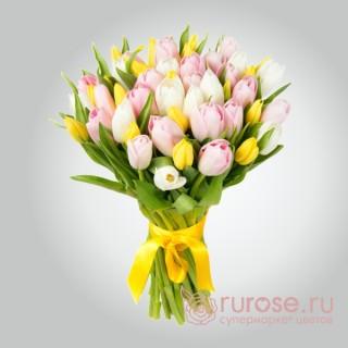 Букет из 35 тюльпанов «Евангелина»