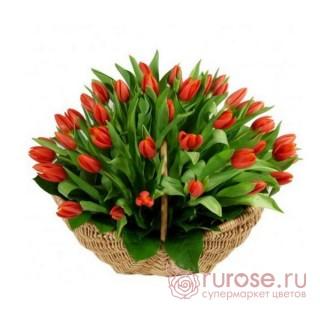 "Корзина с тюльпанами ""Фаина"""