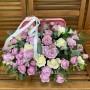 """Цветы в коробке """"Сиреневый вечер"""""""