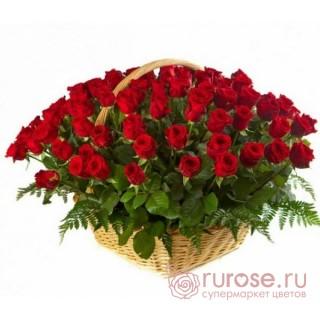 """Корзина с розами """"Искренность"""""""