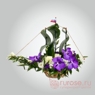 """Игрушка из цветов """"Шхуна"""""""