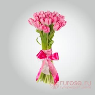 """Букет из 25 тюльпанов """"Розовенький"""""""