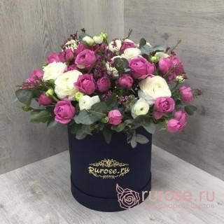 """Цветы в коробке """"Стефания"""""""
