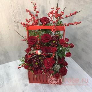 """Коробка с цветами """"Момент признания"""""""